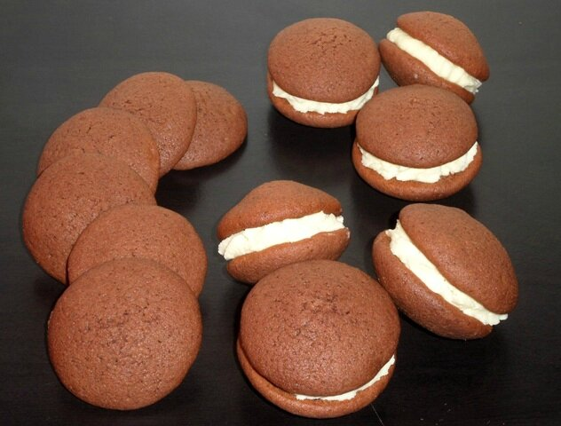 Whoophies cacao ganache chocolat blanc