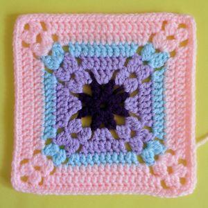 200 carrés crochet Glycine
