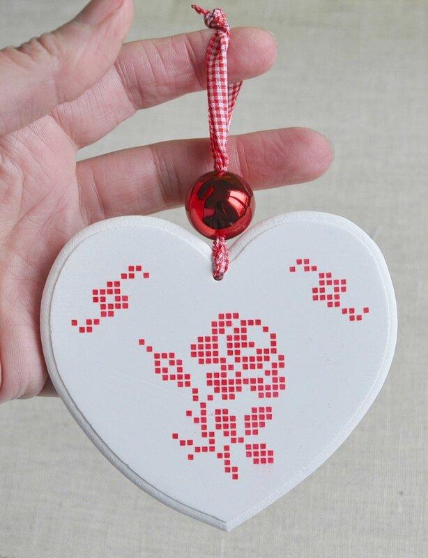 coeur rose rouge 2