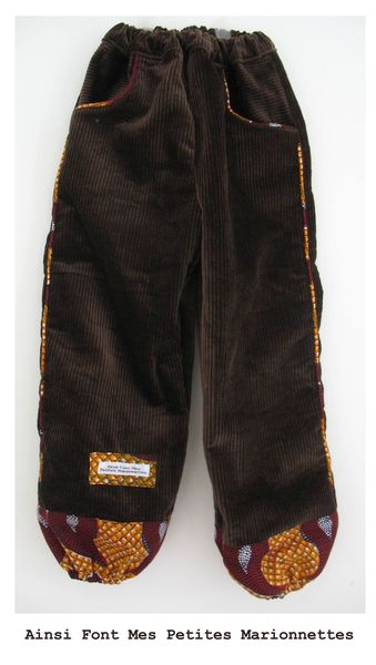 pantalon marron africain gabin 1