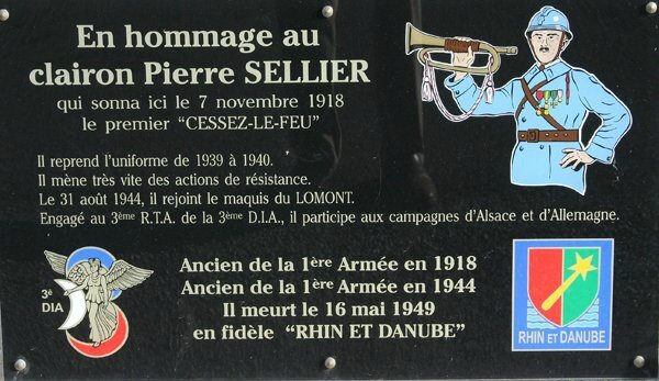 Photo Haudroy Stèle Plaque Sellier