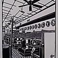 New-York - Metro diner - Linogravure