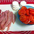 Tarte poulet tomates et chèvre