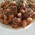 Saucisses de toulouse aux haricots lingots
