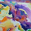 Test à l'aquarelle et retour à l'abstrait