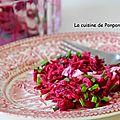 Betterave rouge et sa vinaigrette