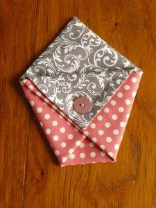 Pochette origami rose-gris GP5