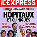 Express palmares hopitaux 2015