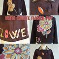 veste courte flower pop