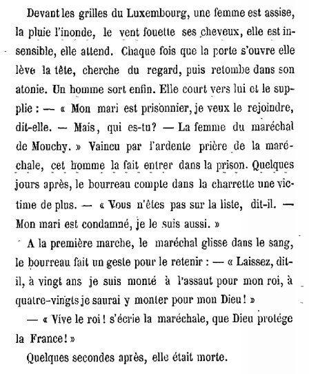 Mme la Maréchal de Mouchy
