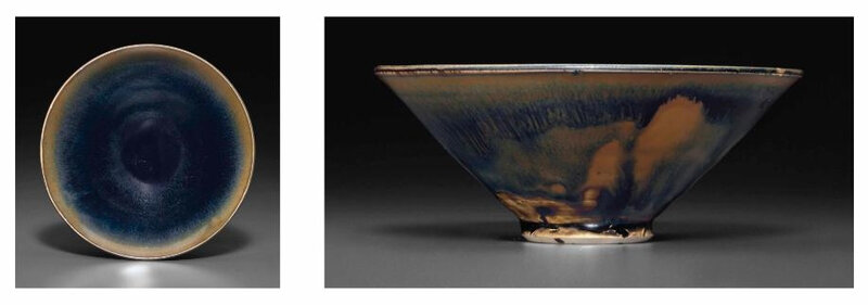 A Cizhou-type conical 'hare's fur' tea bowl, Song dynasty, 12th-13th century