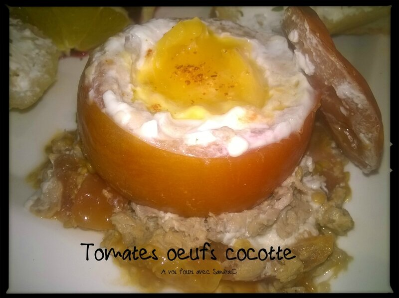 Tomates oeufs cocotte