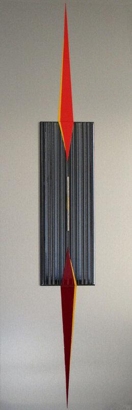 9- SINGULARITE SPATIALE (150x50) céramique & alu
