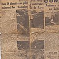 Rousseloy article dans l'union de 1952