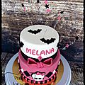 Gateau à étage monster high {piñata cake } { catty noir }