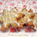 Biscuits de noël # 5 : etoiles en pain d'épices