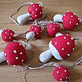 La guirlande champignons... fliegenpilz girlande...