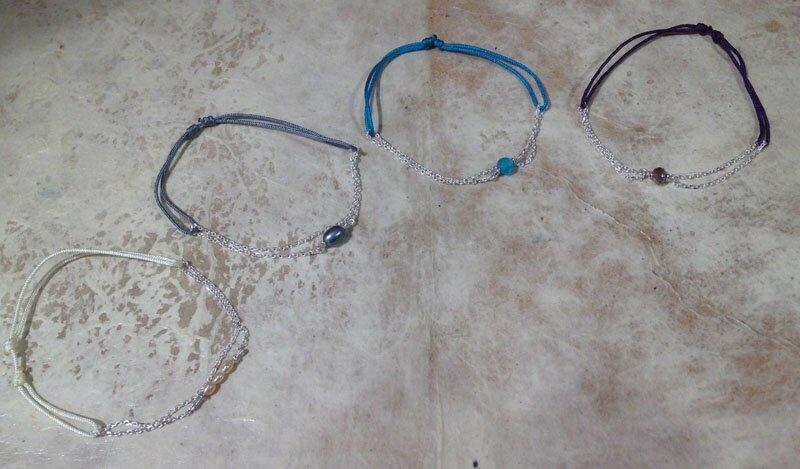 bracelets perlea argent