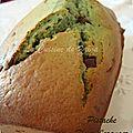 {cake pistache fleur d'oranger et chocolat}
