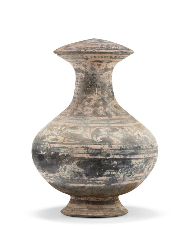 A painted pottery vase, Han dynasty (206 BC-AD 220)