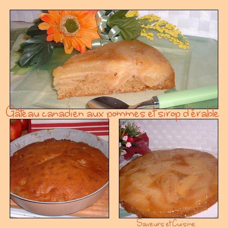 Gâteau canadien aux pommes et au sirop d'érable