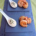 Crevettes panées à la noix de coco - sauce légère à la mangue