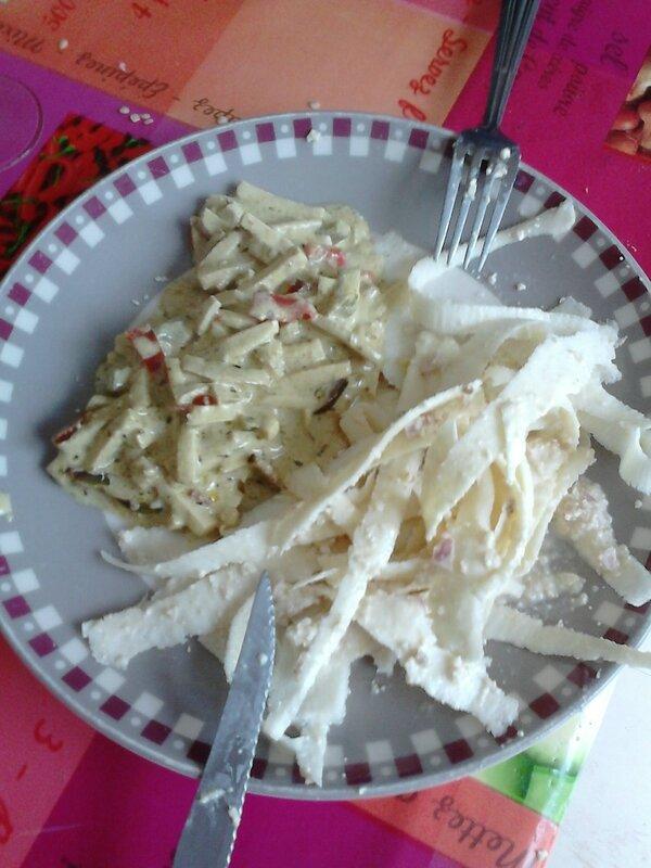 1er mai tagliatelles de panais et tofu au lait de coco