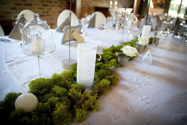 centre de table table n'honneur thème nature retro chic
