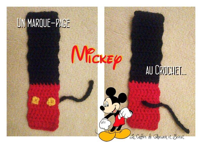 Marque page Disney au Crochet chez Gloewen et Scrat