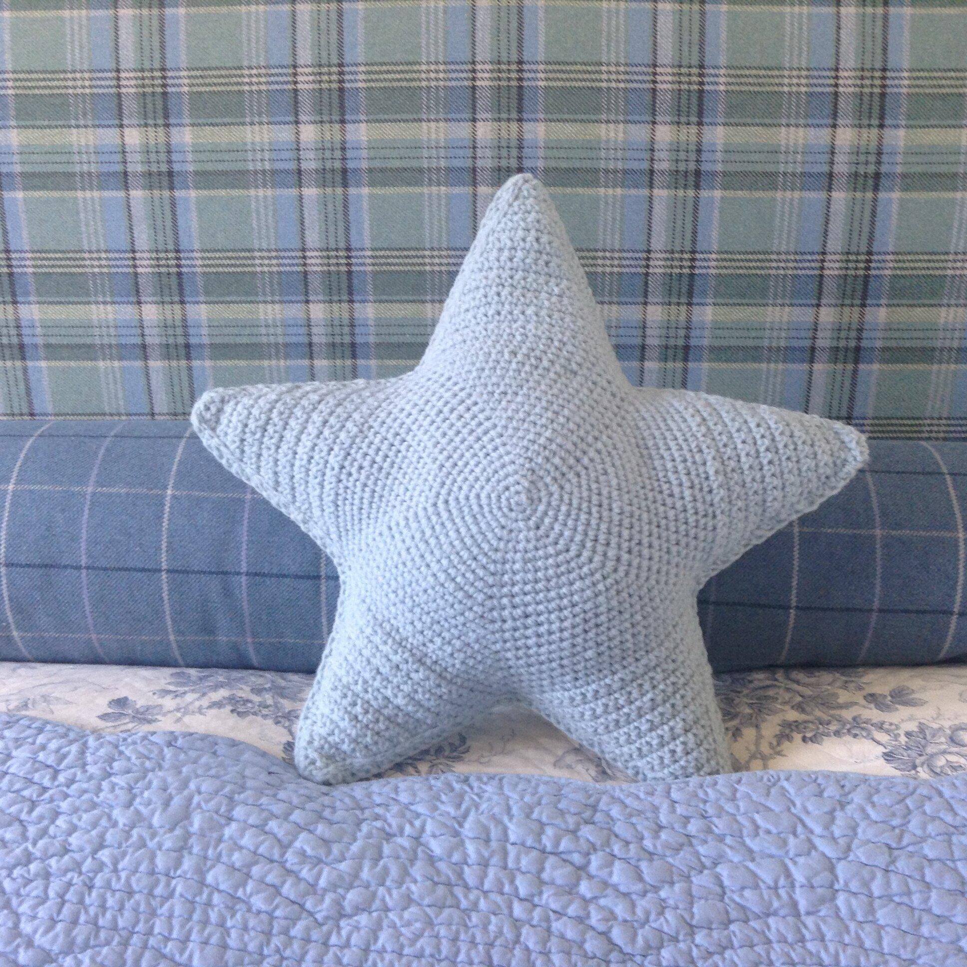 Une étoile Crochetée Bleue Rosefeedesbelleschoses