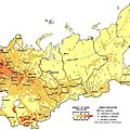 popaulation density in russia