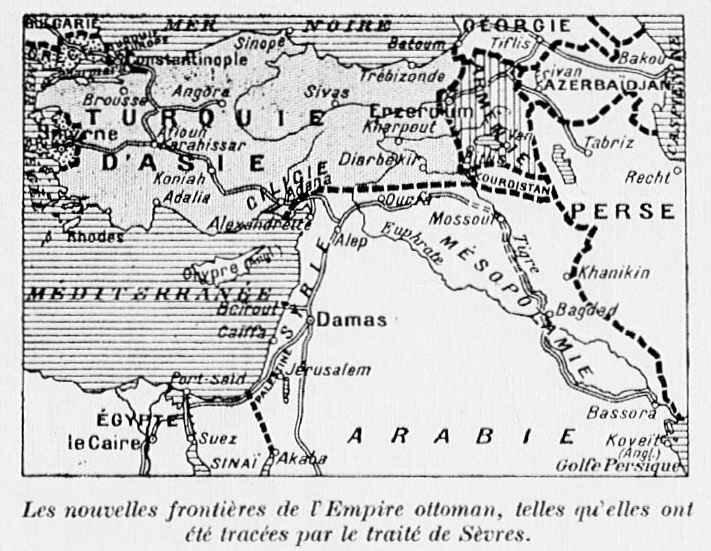 Carte turquie traité de paix 1920