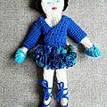 Danseuse ballerine bleue