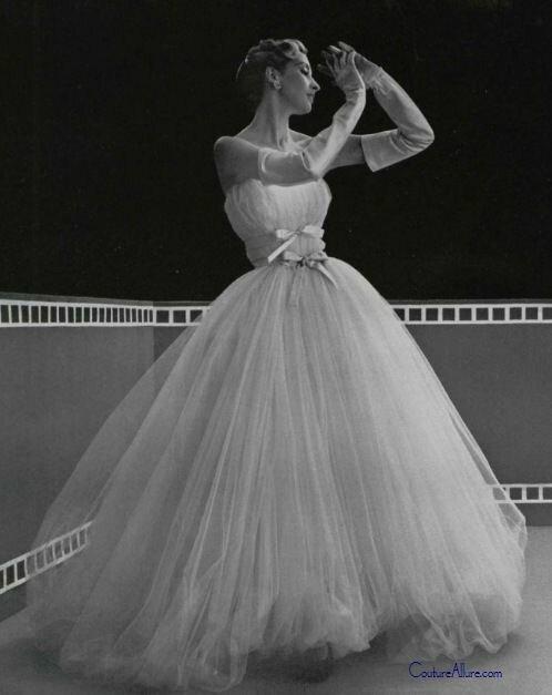 1953 - Balenciaga Evening Dress.