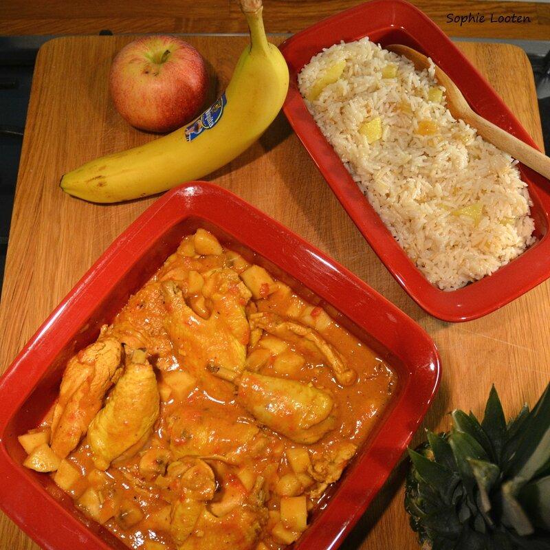 Poulet curry riz madras2