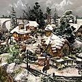 Quand l'hiver s'installe... village de Noël 2017