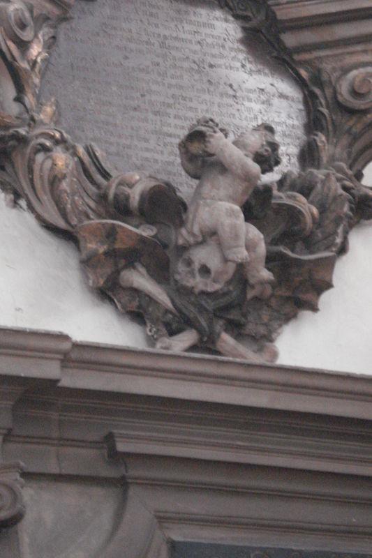 Tombe, détail, église Marienkirsche, Berlin