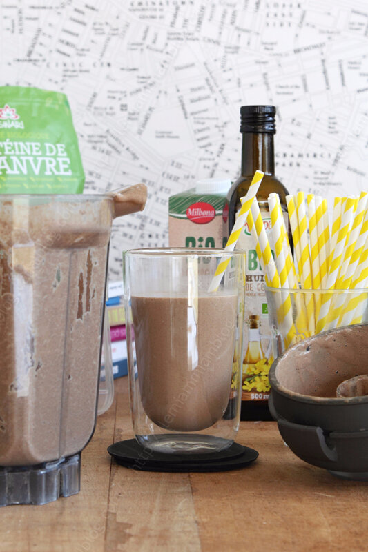 recette de chocolat chaud proteine ou creme dessert 0003 LE MIAM MIAM BLOG