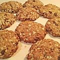 Cookies d'avoine aux pépites de chocolat