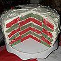 Rainbow cake aux couleurs de noël