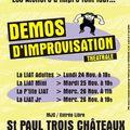 Démos d'impro des ateliers liat de st paul : du 24 au 26 novembre 08