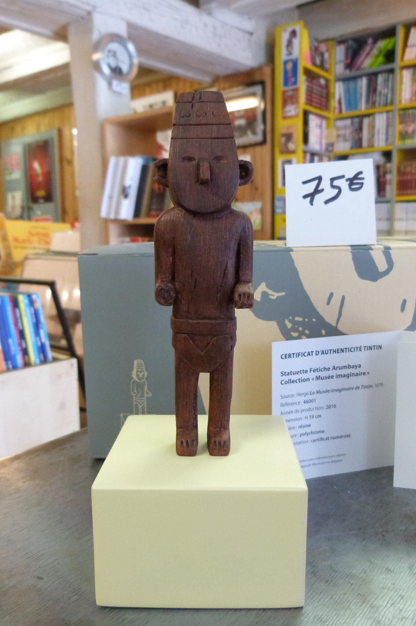 Tintin, le musée imaginaire : le fétiche Arumbaya