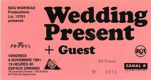1991_11_The_Wedding_Present_Espace_Ornano_Billet