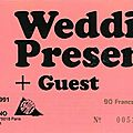 The wedding present - vendredi 8 novembre 1991 - espace ornano (paris)