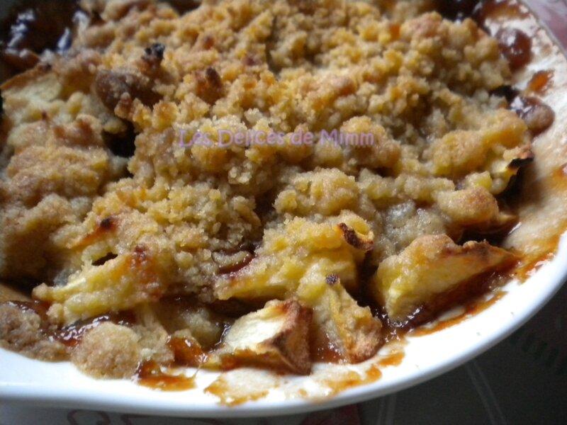 Crumble aux pommes et aux carambars 3