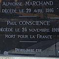 Conscience françois paul (luzeret) + 21/11/1918 pestovo (serbie)
