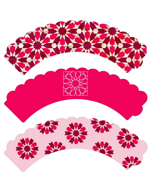 cupcake wrappers roses