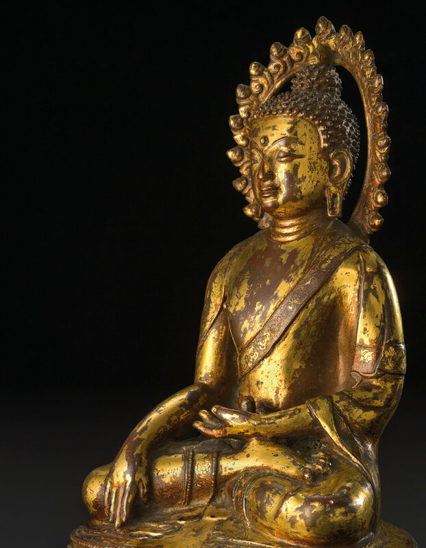 2019_CKS_17114_0061_002(a_rare_gilt-bronze_figure_of_shakyamuni_ming_dynasty_15th_century_or_e)