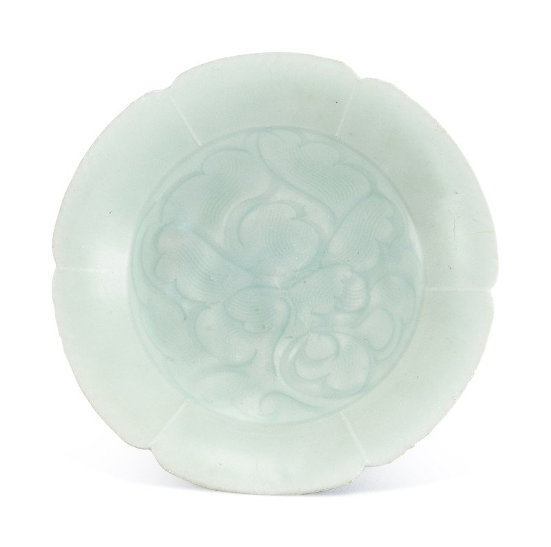 A qingbai lobed 'floral' dish Southern Song dynasty