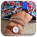 Argent massif bracelets 19 et 20 cm portés